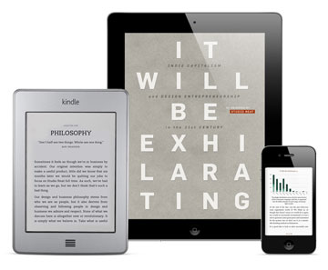An iPad, Kindle, and iPhone loaded with the book.